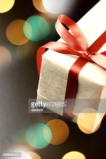 gift red bow : Stock Photo