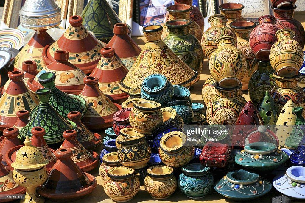 Gift Shop in Street Market, Casablanca, Morocco