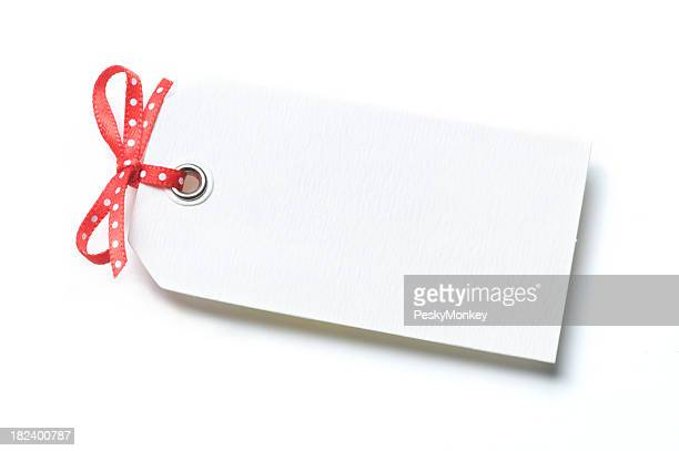 Gift Tag White Background Polka Dot Bow
