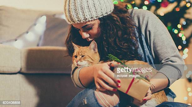 Gift time with my cat