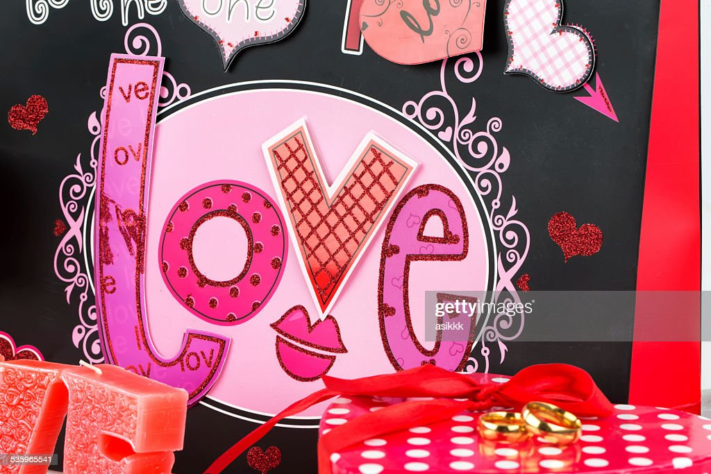 gift wrap and love : Stock Photo