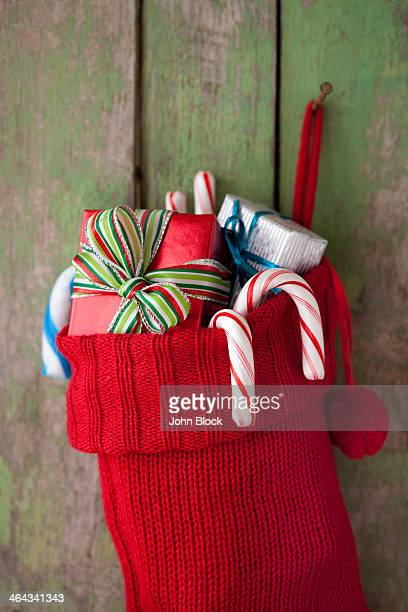 gifts in holiday stocking
