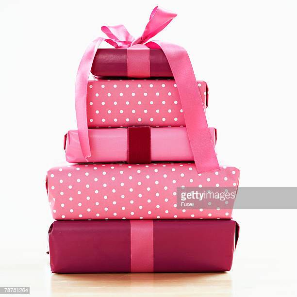 Gifts in Pink Wrapping Paper