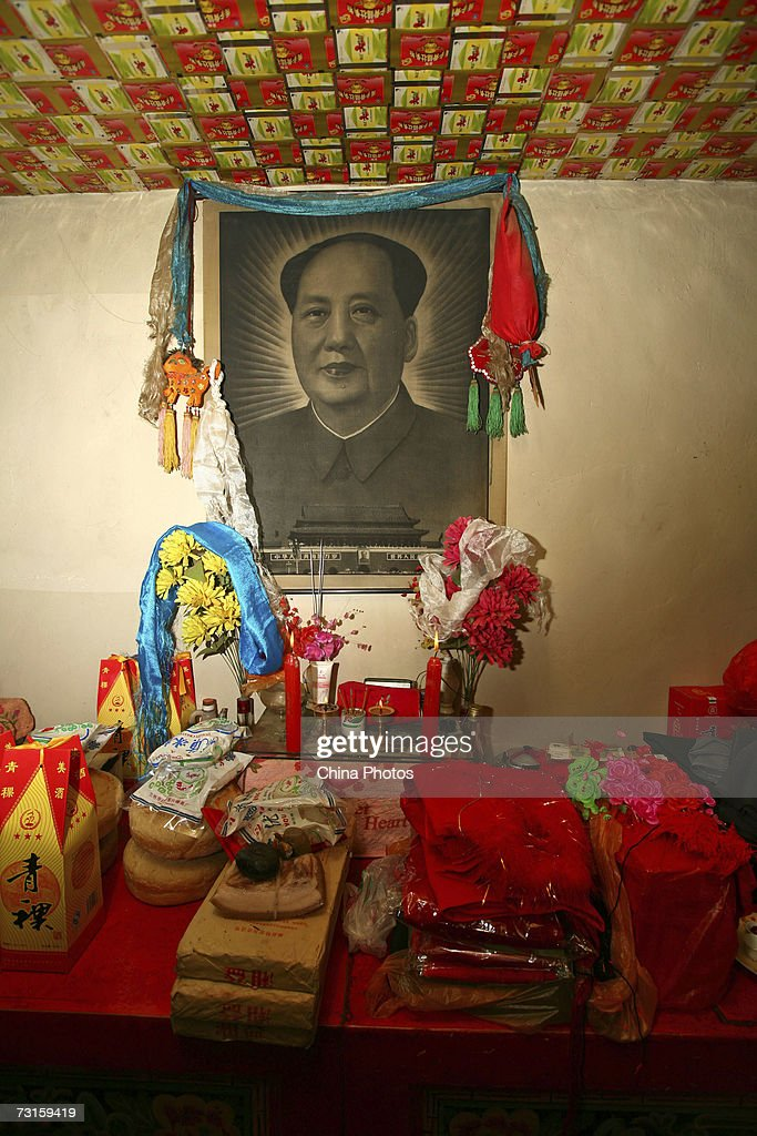 Gifts presented by the groom's family are seen at the bride's home during a Tu ethnic minority group wedding ceremony on January 29, 2007 in Huzhu County of Qinghai Province, northwest of China. The wedding lasts two days. During the first day of the ceremony, relatives of the groom bring gifts to the bride's home. The brides relatives then shut the door and sing to test the sincerity of the groom. The Bride's family finally welcome in the guests and they dance to celebrate the marriage. During the early morning of the second day, the families help the bride dress up and the girl bids thanks and farewell to her parents. At dawn, the groom rides a horse to pick up the bride and the short ceremony is held at the groom's home. Relatives of both families then enjoy a grand feast. The newlyweds bid farewell to the relatives of the bride at dusk as the ceremony ends.