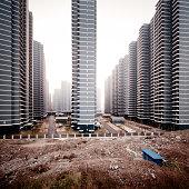 Gigantic flats new buildings China