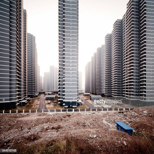 Gigantic flats new buildings China