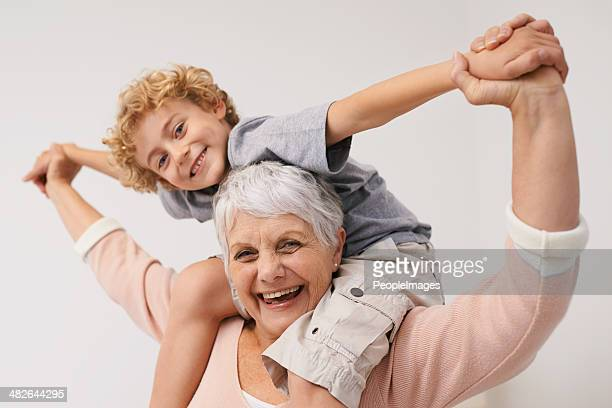 Giggles with my grandson