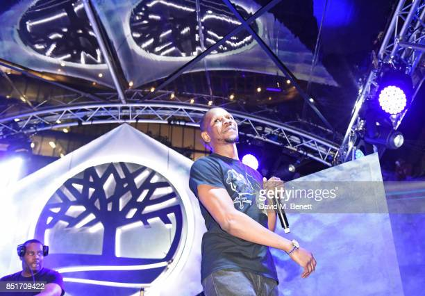 Giggs performs at the launch of the Timberland Flyroam sneaker at The Scoop on September 22 2017 in London England