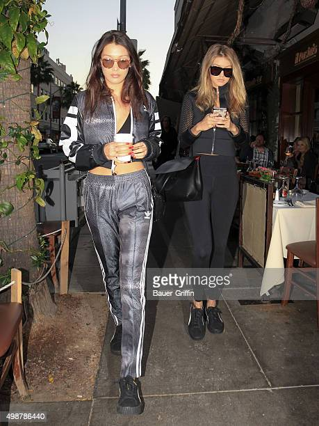 Gigi and Bella Hadid are seen on November 25 2015 in Los Angeles California