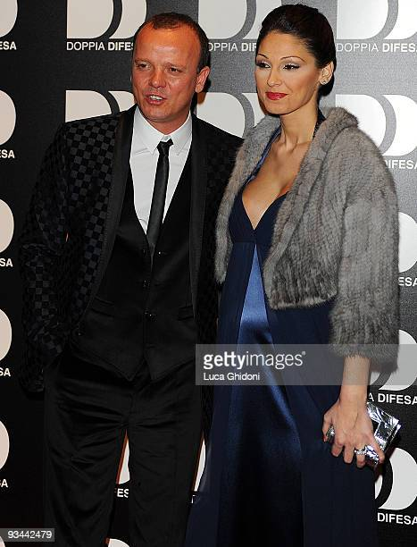 Gigi D'Alessio and Anna Tatangelo attend 'Doppia Difesa' charity gala event on November 26 2009 in Milan Italy
