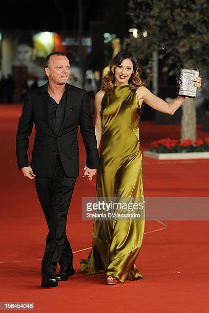 Gigi D'Alessio and Anna Tatangelo attend 'E La Chiamano Estate' Premiere at Auditorium Parco Della Musica on November 14 2012 in Rome Italy