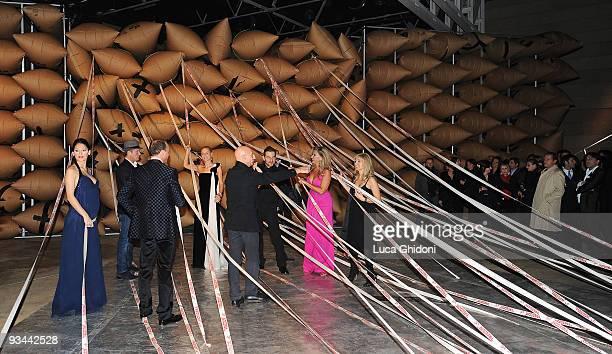 Gigi D'Alessio Anna Tatangelo Michelle Hunziker Donata Berger Dario Milana Andrea Baccan and Daniele Bossari attend 'Doppia Difesa' charity gala...