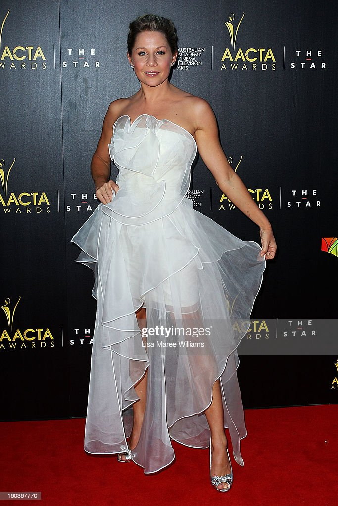 Gigi Edgley arrives at the 2nd Annual AACTA Awards at The Star on January 30, 2013 in Sydney, Australia.