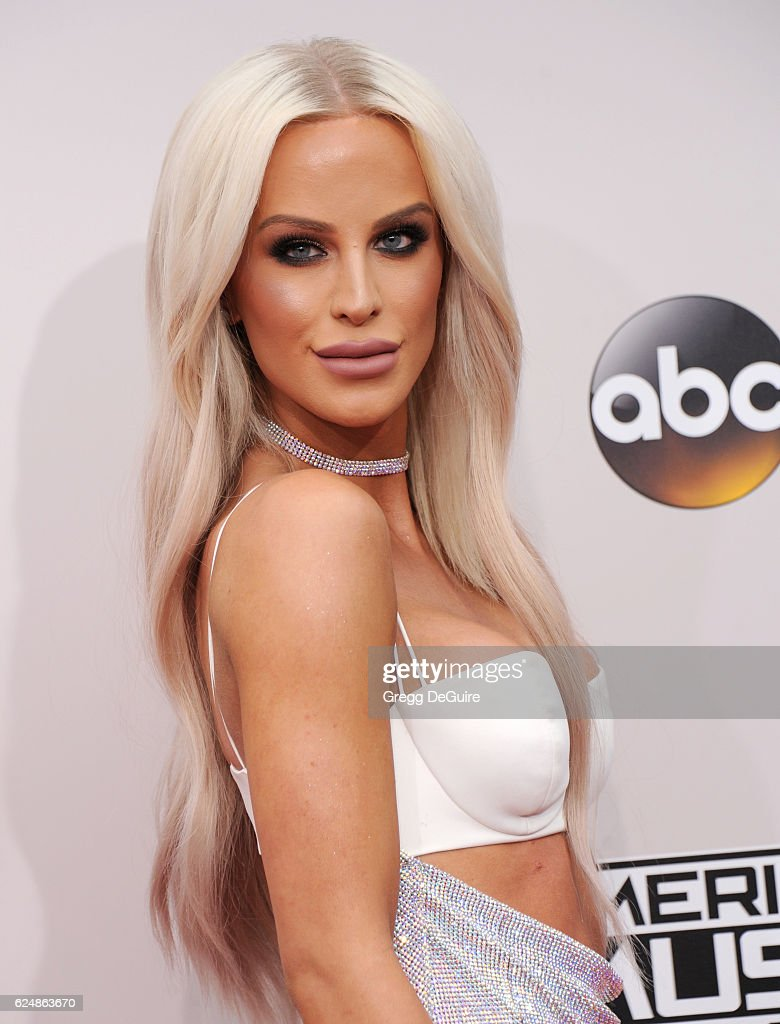 Gigi Gorgeous arrives at the 2016 American Music Awards at Microsoft Theater on November 20, 2016 in Los Angeles, California.