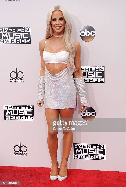 Gigi Gorgeous arrives at the 2016 American Music Awards at Microsoft Theater on November 20 2016 in Los Angeles California