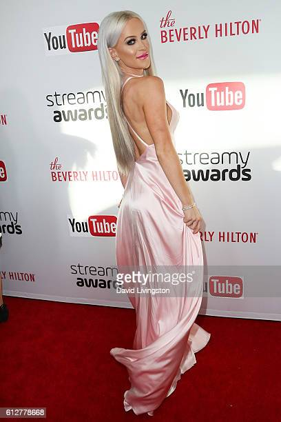Gigi Gorgeous arrives at the 2016 Streamy Awards at The Beverly Hilton Hotel on October 4 2016 in Beverly Hills California