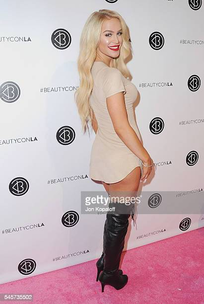 Gigi Gorgeous arrives at the 4th Annual Beautycon Festival Los Angeles at Los Angeles Convention Center on July 9 2016 in Los Angeles California