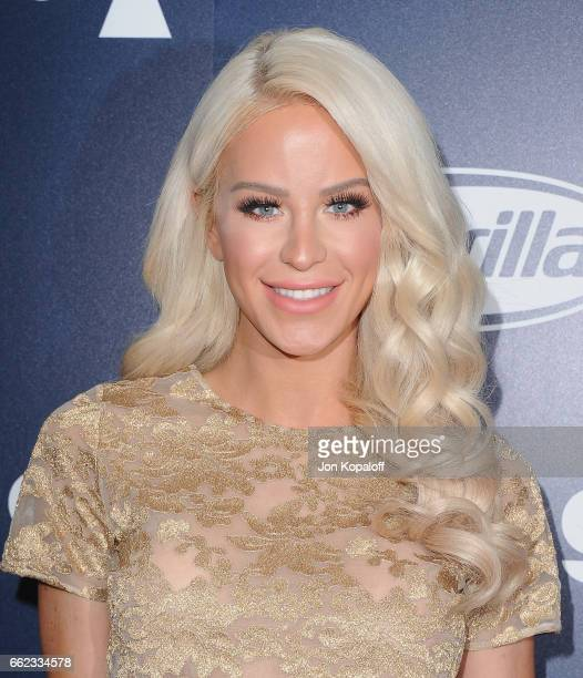 Gigi Gorgeous arrives at the Inaugural GLAAD Rising Stars Luncheon at The Beverly Hilton Hotel on March 31 2017 in Beverly Hills California