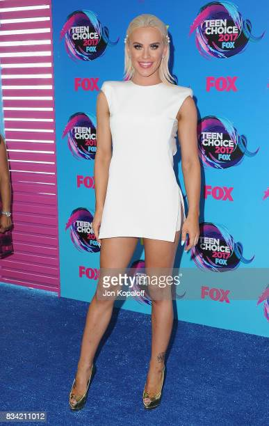 Gigi Gorgeous arrives at the Teen Choice Awards 2017 at Galen Center on August 13 2017 in Los Angeles California