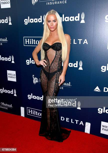 Gigi Gorgeous attends the 28th Annual GLAAD Awards at New York Hilton Midtown on May 6 2017 in New York City