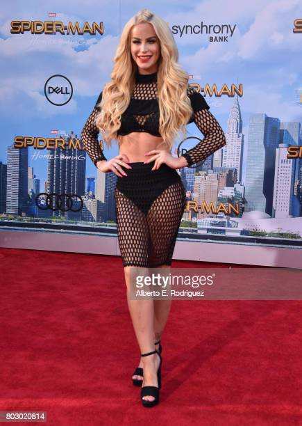 Gigi Gorgeous attends the premiere of Columbia Pictures' 'SpiderMan Homecoming' at TCL Chinese Theatre on June 28 2017 in Hollywood California