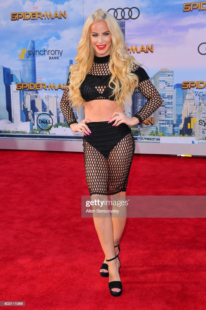 Gigi Gorgeous attends the premiere of Columbia Pictures' 'Spider-Man: Homecoming' at TCL Chinese Theatre on June 28, 2017 in Hollywood, California.