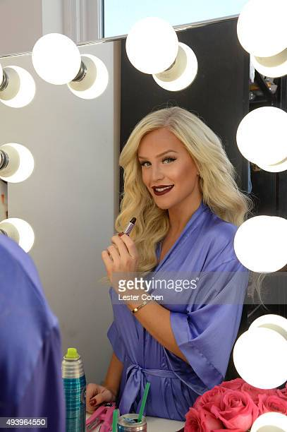 Gigi Gorgeous has glam session in preparation for the GLSEN Respect Awards on October 23 2015 in Hollywood California