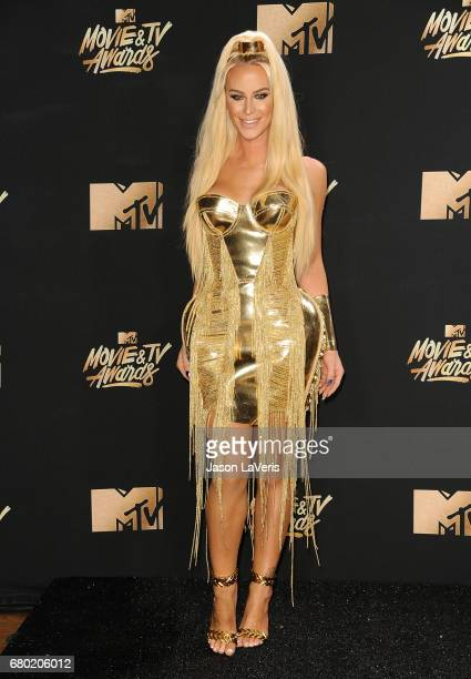 Gigi Gorgeous poses in the press room at the 2017 MTV Movie and TV Awards at The Shrine Auditorium on May 7 2017 in Los Angeles California