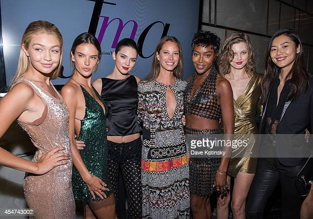 Gigi Hadid Alessandra Ambrosio Kendall Jenner Christy Turlington Burns Naomi Campbell Lindsey Wixson and Liu Wen attend The Daily Front Row Second...