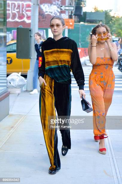 Gigi Hadid and a friend seen out and about in Manhattan on June 20 2017 in New York City