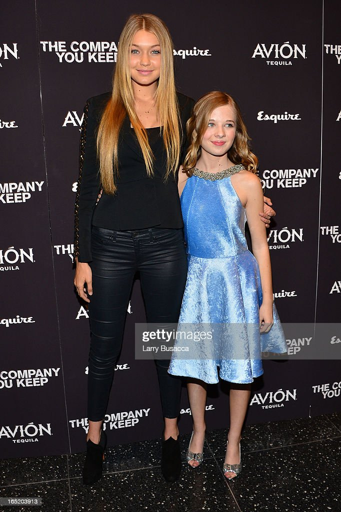 Gigi Hadid and actress Jackie Evancho attend 'The Company You Keep' New York Premiere at The Museum of Modern Art on April 1, 2013 in New York City.