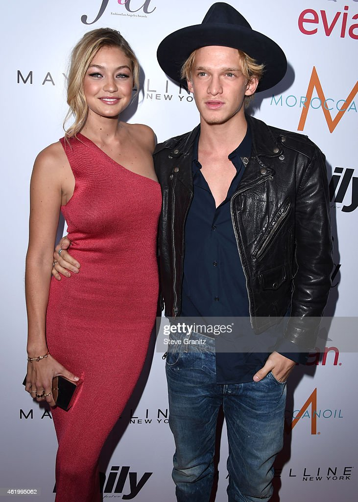 Gigi Hadid and Cody Simpson arrives at the The Daily Front Row's 1st Annual Fashion Los Angeles Awards at Sunset Tower Hotel on January 22, 2015 in West Hollywood, California.