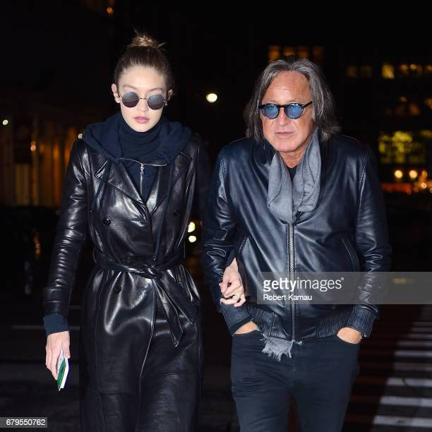 Gigi Hadid and her father Mohamed Hadid seen out in Manhattan on May 5 2017 in New York City