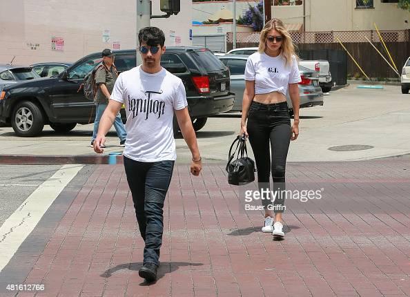 Gigi Hadid and Joe Jonas are seen on July 22 2015 in Los Angeles California