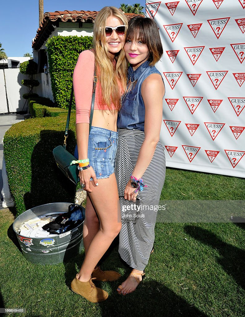 <a gi-track='captionPersonalityLinkClicked' href=/galleries/search?phrase=Gigi+Hadid&family=editorial&specificpeople=9198520 ng-click='$event.stopPropagation()'>Gigi Hadid</a> and Kat McPhee attend the GUESS Hotel pool party at the Viceroy Palm Springs on April 14, 2013 in Palm Springs, California.