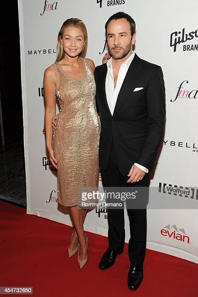 Gigi Hadid and Tom Ford attend The Daily Front Row Second Annual Fashion Media Awards at Park Hyatt New York on September 5 2014 in New York City