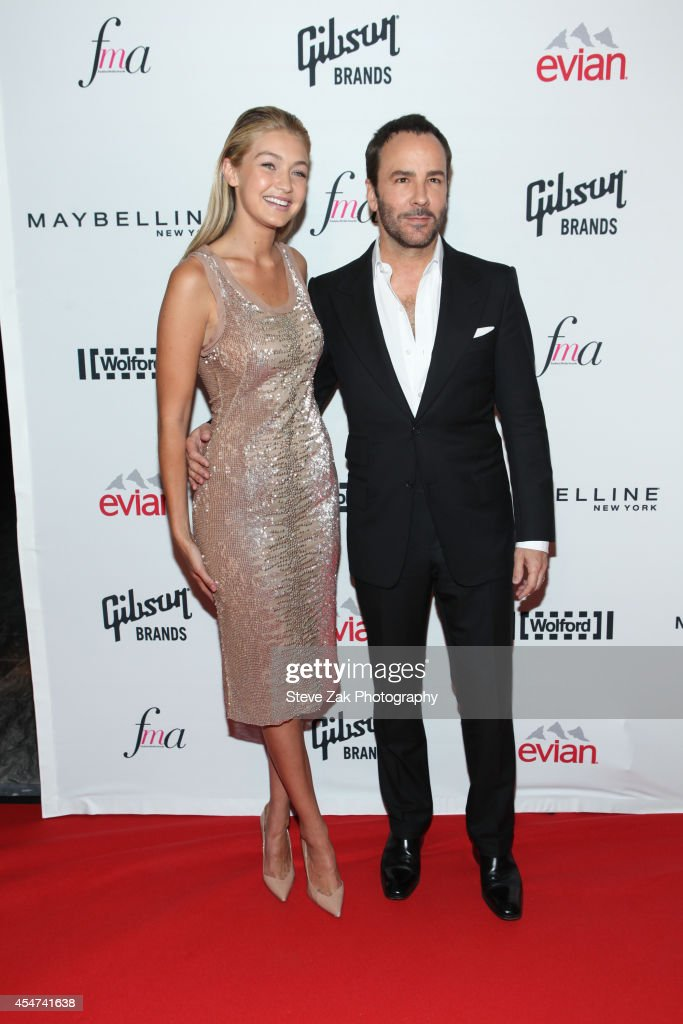 Gigi Hadid and Tom Ford attend The Daily Front Row Second Annual Fashion Media Award at Park Hyatt New York on September 5 2014 in New York City