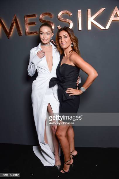 Gigi Hadid and Valerie Messika attend Messika cocktail as part of the Paris Fashion Week Womenswear Spring/Summer 2018 on September 27 2017 in Paris...