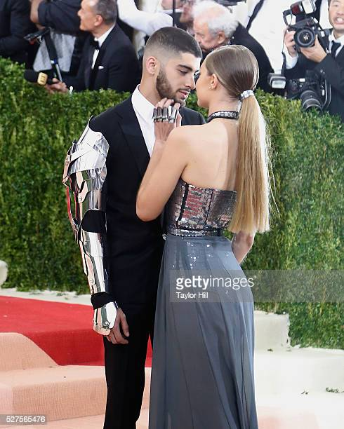 Gigi Hadid and Zayn Malik attend 'Manus x Machina Fashion in an Age of Technology' the 2016 Costume Institute Gala at the Metropolitan Museum of Art...