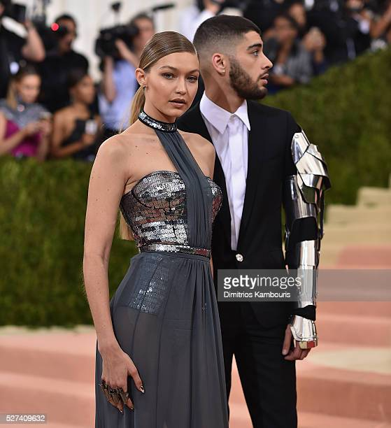 Gigi Hadid and Zayn Malik attend the 'Manus x Machina Fashion In An Age Of Technology' Costume Institute Gala at Metropolitan Museum of Art on May 2...