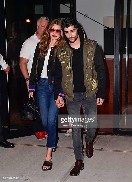 Gigi Hadid and Zayn Malik seen on the streets of Manhattan on July 14 2016 in New York City
