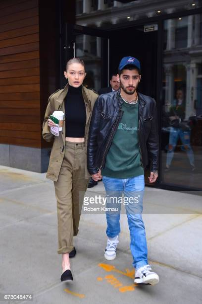 Gigi Hadid and Zayn Malik seen out in Manhattan on April 25 2017 in New York City
