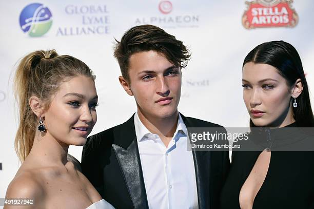 Gigi Hadid Anwar Hadid and Bella Hadid attend the Global Lyme Alliance 'Uniting for a LymeFree World' Inaugural Gala at Cipriani 42nd Street on...
