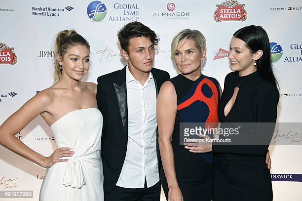 Gigi Hadid Anwar Hadid Yolanda Foster and Bella Hadid attend the Global Lyme Alliance 'Uniting for a LymeFree World' Inaugural Gala at Cipriani 42nd...