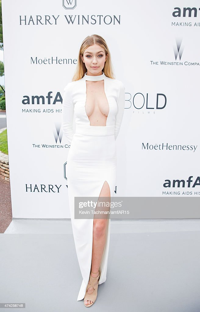 Gigi Hadid arrives for the amfAR 22nd Annual Cinema Against AIDS Gala at Hotel du CapEdenRoc on May 21 2015 in Cap d'Antibes France