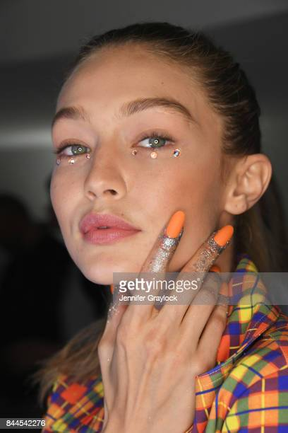 Gigi Hadid at CND for Jeremy Scott fashion show during New York Fashion Week The Shows at Spring Studios on September 8 2017 in New York City