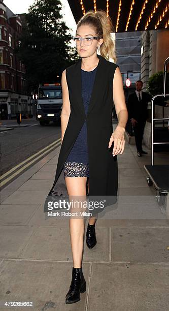 Gigi Hadid at the Edition hotel on July 2 2015 in London England