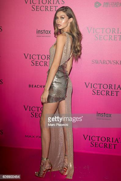 Gigi Hadid attends '2016 Victoria's Secret Fashion Show' after show photocall at Le Grand Palais on November 30 2016 in Paris France