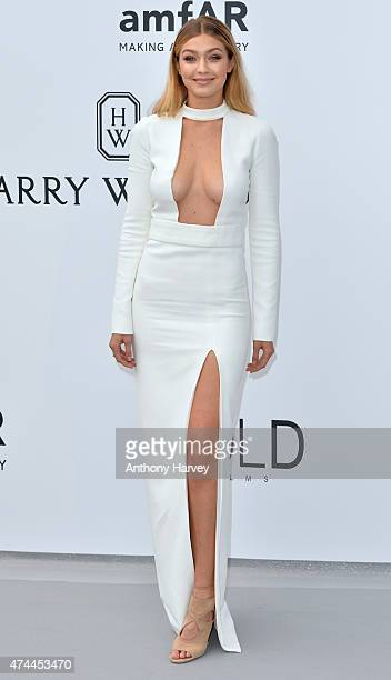 Gigi Hadid attends amfAR's 22nd Cinema Against AIDS Gala Presented By Bold Films And Harry Winston at Hotel du CapEdenRoc on May 21 2015 in Cap...