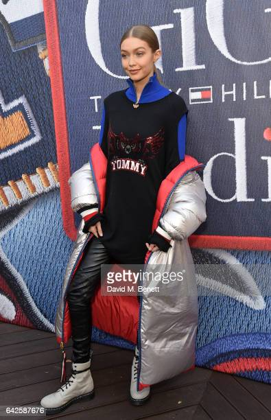 Gigi Hadid attends as model Gigi Hadid launches her spring 2017 TommyXGigi capsule collection designed with Tommy Hilfiger at the Tommy Hilfiger...